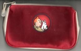 Kuifje Bobbie  Pennenzak Tintin Milou Stifftasche Poche Pr Stylo Hergé Circa Afm. 22x14cm - Stylos