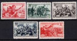 Russia 1940 Unif. 763/67 **/MNH VF - 1923-1991 URSS