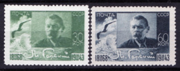 Russia 1943 Unif. 893/94 **/MNH VF/F - 1923-1991 URSS