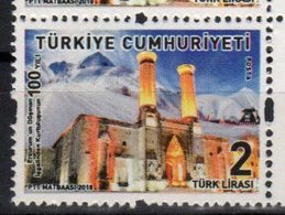 TURKEY, 2018, MNH, 100th ANNIVERSARY OF ERZURUM LIBERATION , MOSQUES, MOUNTAINS, 1v - Other