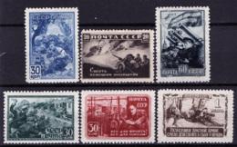 Russia 1942 Unif. 860/65 **/MNH VF/F - 1923-1991 URSS