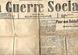La Guerre Sociale (Paris)  3/3/1915   Censuré : L'éditorial De Gusrtave Hervé Est Blanc - Journaux - Quotidiens