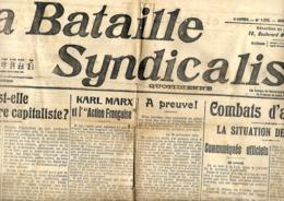 La Bataille Syndicaliste (Paris) 10/12/1914 - Journaux - Quotidiens
