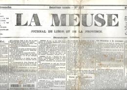 La Meuse (Liège)  27 Et 28/5/1871 (fin De La Semains Sanglante) - Journaux - Quotidiens