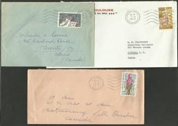 Lot 3 Lettres Pour Le CANADA - France