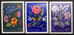 [813084]Pologne 1974 - N° 2151/53, Socphilex Expo à Katowice, Tissus Brodé, Fleurs Diverses, SC, SNC - Pflanzen Und Botanik
