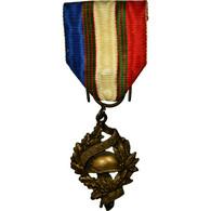France, Union Nationale Des Combattants, Médaille, Excellent Quality, Bronze - Militari