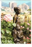 Principauté De MONACO, Statue De S.A.S. La Princesse Grace Par Kees Verkade, Roseraie, Ed. La Cigogne 1980 Environ - Fontvieille