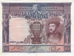 BILLETE DE ESPAÑA DE 1000 PTAS DEL AÑO 1925 DE CARLOS I CALIDAD MBC (VF)  SIN SERIE (BANKNOTE) - [ 1] …-1931 : Primeros Billetes (Banco De España)