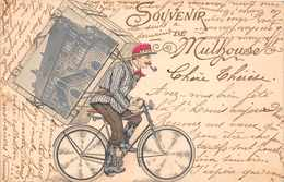 MULHOUSE  - Souvenir De ...( Coursier à Vélo ) - Mulhouse
