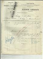 70 - Haute Saone -Chassey Les Montbozon Par Cognières- Facture - Laiterie Xavier Liégeon - Fromages - Beurre-- Réf.28 . - France