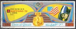 UMM AL QIWAIN N° 742A O MI 1972 Vainqueurs Au Jeux Olympiques De Sapporo (Anne Elisabeth Henning) (Non Répertorié Y&T) - Umm Al-Qiwain