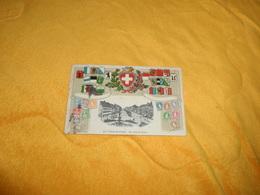 CARTE POSTALE GAUFFREE ANCIENNE CIRCULEE DE 1905. / LA CHAUX DE FONDS RUE LEOPOLD ROBERT. / BLASONS ARMOIRIES.CACHETS +T - Suisse