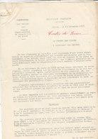 Préfet Des Vosges ,mise En Vigueur De La Carte De Sucre , 2 Pages ,1917 - Documents