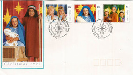 Noël En Australie, La Nativité Par Les Enfants.  FDC Australie 1997 - Noël