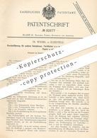 Original Patent - Fr. Wiebel , Elberfeld , 1894 , Parallelführung An Druckmaschinen Für Papier , Gewebe   Druck !!! - Documents Historiques