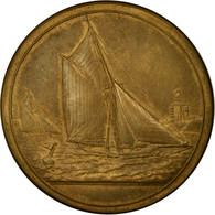 France, Médaille, Bateaux à Voile, Mer, La Bernerie, 1903, Desaide, TTB+ - France