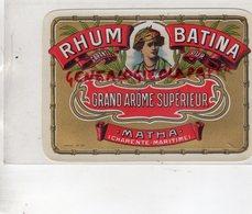17- MATHA -CHARENTE MARITIME- ETIQUETTE RHUM BATINA - Rhum