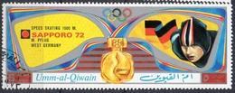 UMM AL QIWAIN N° 761A O MI 1972 Vainqueurs Au Jeux Olympiques De Sapporo (Monika Pflug) (Non Répertorié Y&T) - Umm Al-Qiwain