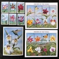 Antigua Barbuda 1997**Mi.2565-86  + Bl.375. ( Orchids )[13;199-202] - Orchideen