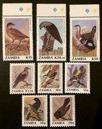 Zambia 1990 ** Mi.528-35. Birds MNH [20;126] - Oiseaux