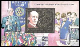 Tchad Bf 213A Rotary , Sciences , Or , Drapeaux - Rotary, Lions Club