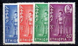ETP113A - ETIOPIA 1963 ,  Yvert  N 412/415    ***  POLIO - Ethiopia