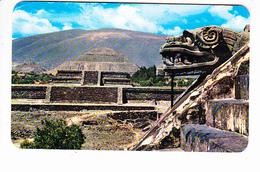 MEXIQUE, MEXICO, Vue Panoramique Du Site Archéologique De San Juan Teotihuacan, Temple De Quetzalcoati- Serpent à Plumes - Mexique