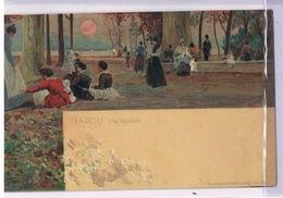 Cartolina - Postcard / Viaggiata - Sent / Pittorica – Napoli – Villa Nazionale - Napoli