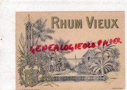 ETIQUETTE RHUM VIEUX - IMPRIMERIE PLOUVIEZ PARIS - Rhum