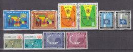 UNO NEW YORK 114-123, Postfrisch **, Jahrgänge 1962 Komplett - New York -  VN Hauptquartier