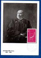 Carte Premier Jour / Schoelcher Victor / Martinique / 22-6-57 - Maximum Cards