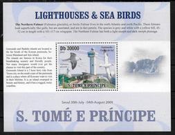 SAINT THOME ET PRINCE  BF De Luxe N° 3201  * *   Phares Oiseaux Mouettes - Phares