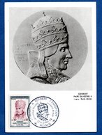 Carte Premier Jour / Gerbert Pape Silvestre II / Reims / 30-31 Mai 1964 - Cartoline Maximum
