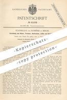 Original Patent - Stanislaus Von Kosinski , Berlin , 1888 , Einrichtung Zum Heizen , Trocknen , Desinfizieren , Lüften ! - Documents Historiques