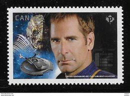 CANADA 2017,# 2990i  MNH STAR TREK Second Edition, Capitain Archer & Dolim, DIE CUT From Quartely Pack - Carnets