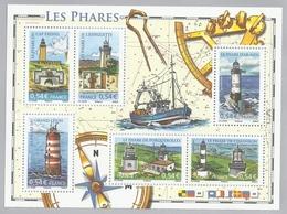 France, French Lighthouses,  2007, MNH VF  Souvenir Sheet Of 6 - France
