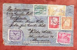 Luftpost, Einschreiben Reco, MiF Kondor U.a., Via Condor Lati, Potosi Nach Wilster, OKW-Zensur 1941 (61462) - Bolivien