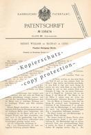 Original Patent - Henry William De Blonay , Genf , 1898 , Bürste Zur Flaschenreinigung   Bürsten   Flaschenbürste !!! - Documents Historiques