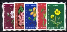 ETP117 - ETIOPIA 1965 ,  Yvert  N 440/444    ***  FIORI - Etiopia