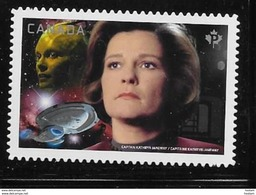 CANADA 2017, #2989i,  MNH STAR TREK Second Edition, Capitain Janeway & Queen Of The Borgs, DIE CUT  From Quartely Pack - Carnets