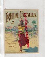 ETIQUETTE RHUM CAVAILLA - Rhum