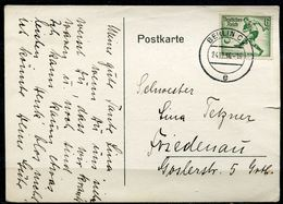 """German Empires 1936 Bedarfspostkarte Mit Mi.Nr.611 EF""""Fußball,Soccer""""mit Tstp."""".Berlin C2 """"1 Beleg - Fussball"""