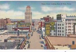 Texas El Paso Texas Street Looking East Curteich - El Paso