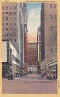 Texas Dallas Akard Street Canyon 1948 Curteich - Dallas