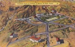 Texas El Paso Airplane View Of College Of Mines 1946 - El Paso