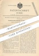 Original Patent - Maurice Hazard Flamand , Boulogne Sur Seine , Frankreich , 1898 , Flüssigkeitsverschluss - Diaphragma - Documents Historiques