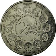 France, Médaille, L'Europe Des XV, Essai, 2003, FDC, Copper-nickel - France