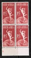 SOUTH AFRICA  Scott # 110** VF MINT NH BLOCK Of 4  LG-957 - Blocchi & Foglietti