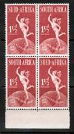 SOUTH AFRICA  Scott # 110** VF MINT NH BLOCK Of 4  LG-958 - Blocchi & Foglietti